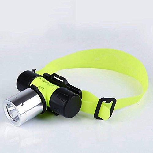 Unterwasser-Stirnleuchte, Modi, LED, wasserfest, zum Schwimmen und Tauchen, Stirnleuchte mit Blinklicht zum Tauchen, Kopf-Taschenlampe