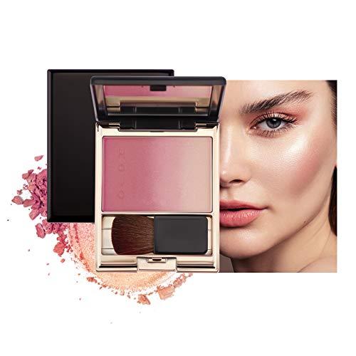 Mimore Trucco tavolozza blush cosmetici in polvere sfumata blush, Durata facilmente sfumabile Fard,Fard per trucco luccicante,Blush in polvere portatile a lunga durata