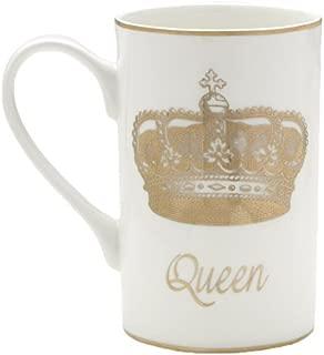 Mikasa Bone China Coffee Mug, 16-Ounce, Queen White/Gold - 5203343