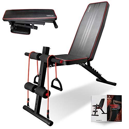 arteesol - Panca Pieghevole, Panca Fitness con Pesi, Multifunzione, Set per Allenamento di Tutto Il Corpo (Stile Pieghevole Nero 1)