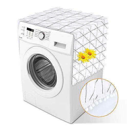 Herefun Kühlschrank Staubdichte Abdeckung, 55 * 130cm Kühlschrank Staubschutz, Waschmaschinenbezug, Waschmaschinen Schonbezug mit Multifunktionale Seitliche Aufbewahrungstasche