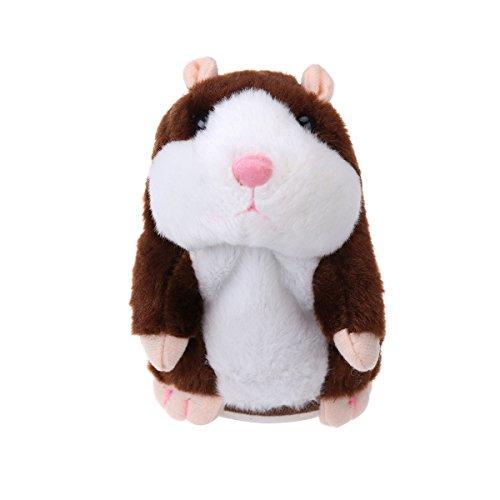 Toyandona 1 Stück Plüschtier, interaktiv, Simulation, Tierspielzeug, Hamster, Geschenke, Kinder, Lernen, Braun