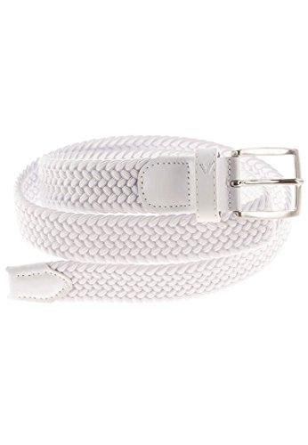 ALBERTO Damen Gürtel Basic Braided geflochten in Weiß Länge 90 cm