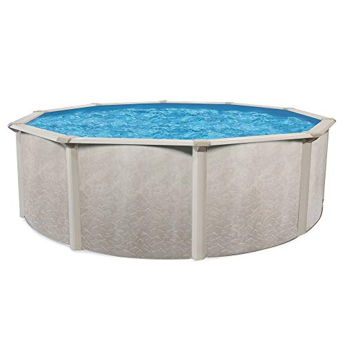 Cornelius Aquarian Phoenix 21' x 52' Steel Frame Above Ground Swimming Pool, Pump and Ladder Kit with Sand Filter, Pool Liner, Skimmer, and Cleaning Accessories