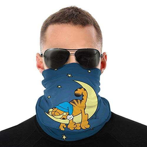 Paño facial para hombres y mujeres, compatible con calentador de cuello multifuncional Garfield, polaina de cuello, transpirable al aire libre, bufanda facial para ciclismo, pañuelo para la cabeza