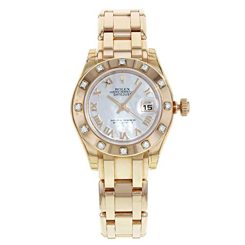 Rolex Datejust Masterpiece 80315Pearlmaster mop oro rosa diamante...