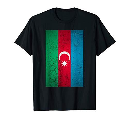 Grunge Azerbaijan Flag Retro Soviet Eurasia Azerbaijani Gift T-Shirt