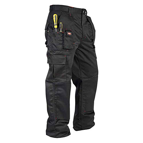 Lee Cooper Herren Cargo Trouser Hose, schwarz, W32/L31 (Reg)