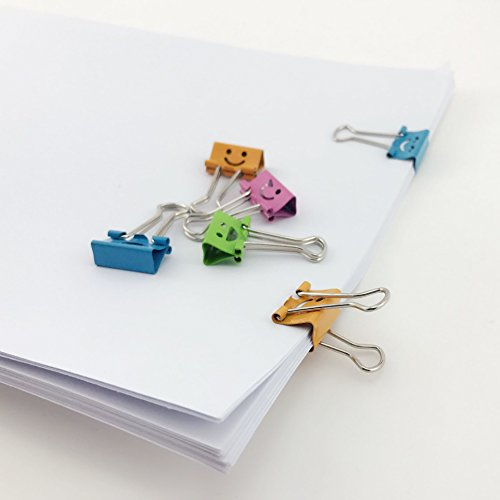 TKOnline Smiling Binder Clips,19mm,Assorted Colors, 72 Clips Binder Clips Office Clips Color Binder Clip in Clips Office Products Assorted Colors Office Binder Binder Clips Assorted Photo #2