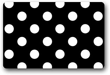 Cloud Dream Polka Dot Black White Door Mats Kitchen Floor Bath Entryway Rug Mat Absorbent Indoor Bathroom Decor Doormats Rubb