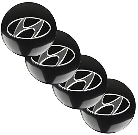 Coche Tapas Para Tapacubos Para Hyundai Sonata Elantra Tucson Creta I30 Ix35 I40 56mm,Cubierta De Centro Tapa Central De Rueda Con Logo,ProteccióN Contra El óXido,4 Unidades