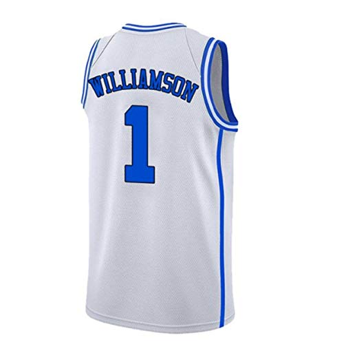 Mens Williamson Jersey Duke 1 Jerseys Adult Basketball University Zion Jersey White(S-XXL) (XL)