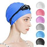Tripsky Silicone Swim Cap,Comfortable Bathing Cap Ideal...