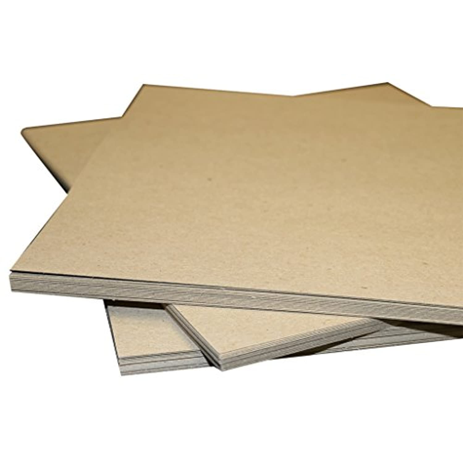 8.5x11 22PT Chipboard 200 Pack | .022 Thickness | Brown Scrapbooking Brown Kraft Sheets | Pad Inserts for mailing and Shipping Protection and Many Other uses | Secure Seal by Shipping Depot