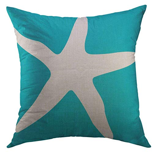 N/C Pillow Cover Nautical Anchor Pattern Blue Outdoor Home Decorative Square Throw Pillow Cushion Cover 18x18 Inch Pillowcase