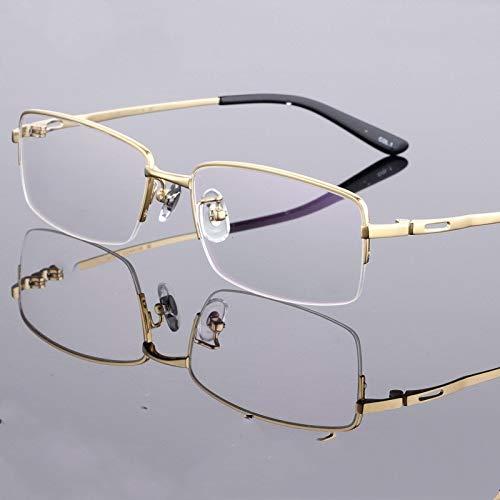 Das Neue Huafeng Titanium-Glas-Rahmen-Glas-Rahmen-Gläser Myopie Geschäftsleute Semi-randlos Brillengestell Titan Brillengestell Brillengestell Brillengestell (Size : Gun ash)