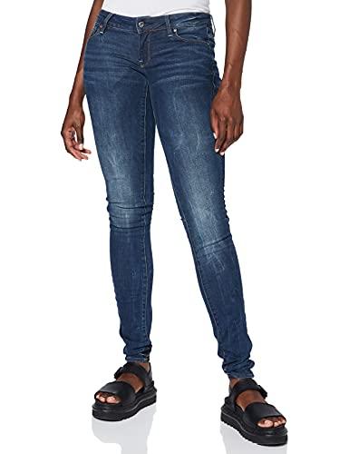 G-STAR RAW Damen Jeans 3301 Low Waist Super Skinny, Blau (Dk Aged 6553-89), 30W / 36L