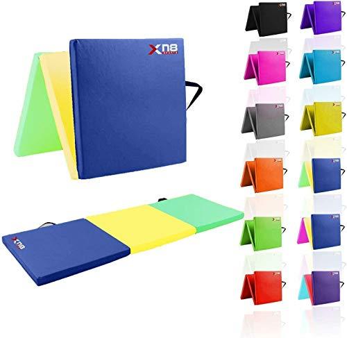 XN8 Weichbodenmatte klappbar Turnmatte | Yogamatte Klappmatte Fitnessmatte Gymnastikmatte rutschfeste Sportmatte