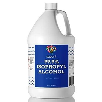 Savant 99% Isopropyl Alcohol - One Gallon  128 Fluid Ounces  - USP Grade  Purest Grade  - Sealed - Rubbing Alcohol
