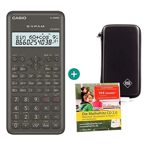 Casio FX-82MS 2 + Mathefritz CD de aprendizaje CALCUSO (alemán) + SafeCase Funda protectora SafeCase