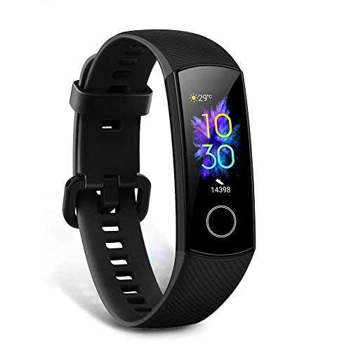HONOR Band 5 Montre Connectée Bracelet Connecté SpO2 Blood Oxygen Podometre Cardio Montre Intelligente 5ATM...