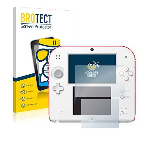 BROTECT Protector Pantalla Cristal Mate Compatible con Nintendo 2DS Protector Pantalla Anti-Reflejos Vidrio, AirGlass