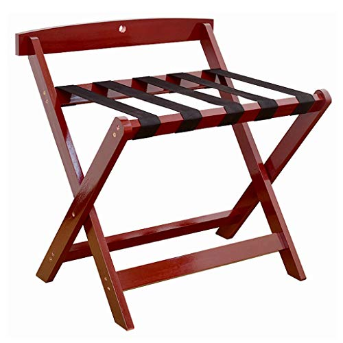 Amazing Deal DNSJB Hotel Luggage Rack Foldable Bedroom Shelf Floor-Standing Clothes Rack Solid Wood ...