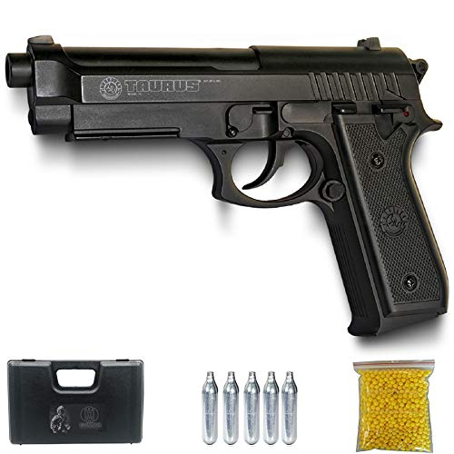 Ecommur PT92 CO2 | Pistola de Airsoft por CO2 Tipo Beretta 92 Calibre 6mm semiautomática