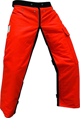 Forester Chainsaw Safety Chaps with Pocket, Apron Style (37', Orange)