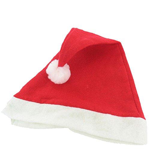 Cappelli rossi di Babbo Natale, cappelli di feltro tradizionali