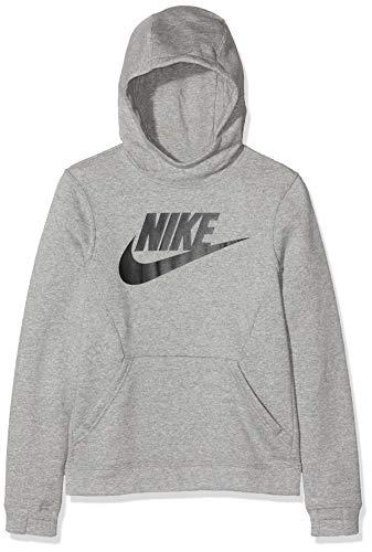 Nike Spring Club Fleece HBR Sudadera, Niños, Gris (Dark Grey Heather/Black), S
