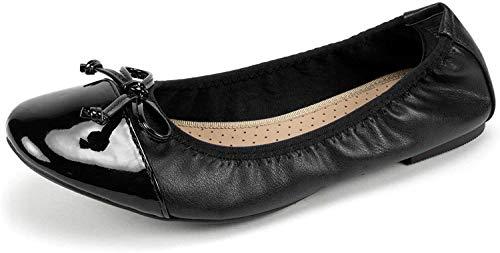 RIALTO Shoes Sunnyside II Women's Flat, Black/Black/Patent, 8H M