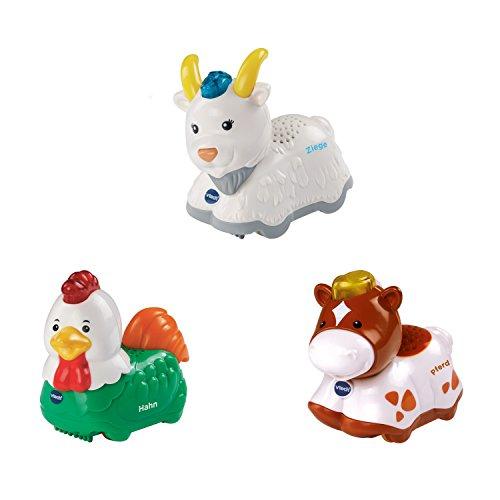 Vtech Baby 80-215339 - Tip Tap Tiere Set 6 - Pferd gefleckt, Hahn und Ziege