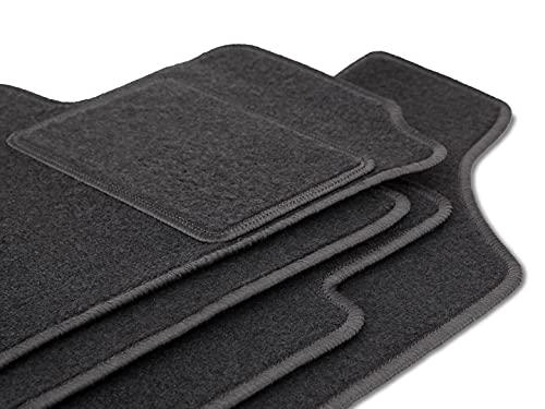 Wielganizator Alfombrillas para coche de terciopelo de color grafito, ajuste perfecto para Ford Tourneo Courier kombivan (2014-) 3 piezas