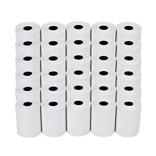 50x Thermorollen 57mm x 12mm x 26m Bonrollen Thermopapier Additionsrollen, Ersatz-Papierrollen, Kassenrollen