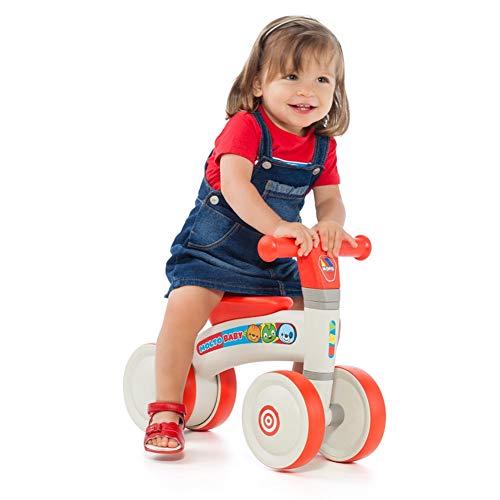 M MOLTO Kinder Laufrad Lauflernrad Balance Fahrrad ohne Pedale Dreirad Spielzeug für 1 Jahr… My First Ride-On
