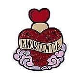 Pin de esmalte de poción de amor, broche de enamoramiento u obsesión, insignia de esencias seductoras, decoración inspirada en la película