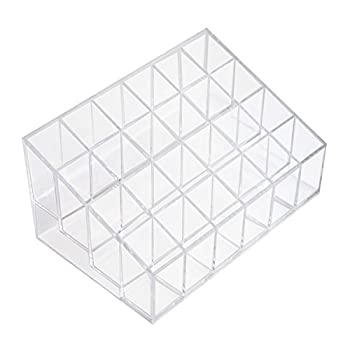 Transparent Cosmetic Makeup Organizer for Lipstick Brushes Bottles and More Clear Case Display Rack Holder