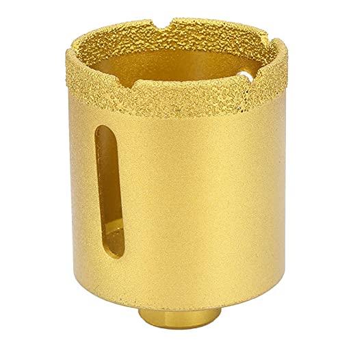 Broca de perforación de núcleo, gran rendimiento de apertura Sierra perforadora de diamante Broca perforadora con 1 sierra perforadora de diamante para baldosas de cerámica de mármol