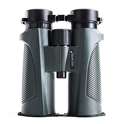 WYYHAA 10X42 Prismáticos para Adultos, Compactos Binoculares para Observar Aves Impermeable Nitrógeno Bak4 Lleno Telescopio para Viajar Caza De Aves