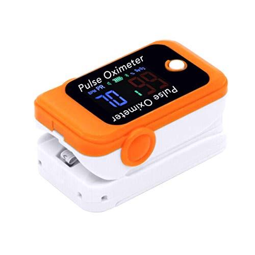 Bluetooth LCD Fingertip Pulse Oximeter Blood Oxygen SpO2 Saturação Esportes e Aviation Fingertip Monitor com visor reversível, estojo de transporte