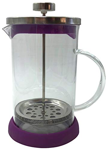 Cuisine Elegance Kaffeebereiter, French Press System, Kaffee- Teezubereiter 800 ml (Violett)