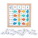 Haowen Juguetes Montessori para niños, dirección de Entrenamiento de Pensamiento lógico, cognición de Color, Juego de Mesa Educativo de Aprendizaje temprano