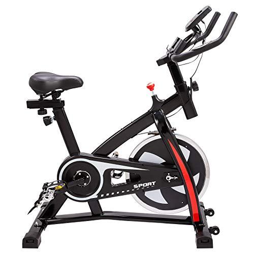 Z ZELUS Heimtrainer Fahrrad Indoor Fahrrad Fitnessfahrrad mit 10KG Schwungrad Fitnessbike faltbares Standfahrrad für Zuhause Büro bis zu 120KG (10KG Schwungrad)