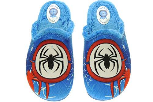 Alcalde 30-6071 Zapatilla de casa Chineha Spiderman para Niños | Destalonada | Descalza AZULÓN Talla 31
