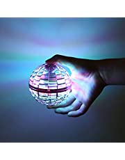 FLYNOVA PRO ミニドローンおもちゃ 球状飛行ジャイロ フライングボール 360°回転 スピニング LEDライト 付き自動回避機能 超軽量 子供/大人向けギフト 誕生日ブーメランスピナーおもちゃプレゼント アップグレード - 青
