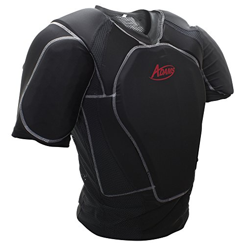 Adams Umpire Chest Protector Low Profile Padded Shirt for Baseball and Softball Umpires, Black, Large