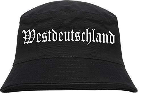 HB_Druck HB_Druck Westdeutschland Fischerhut - Bucket Hat S/M Schwarz