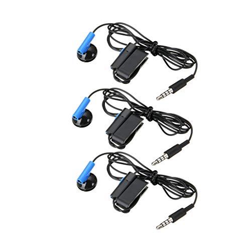 IPOTCH Auriculares de Botón único con Cable de 3 Piezas para con Micrófono