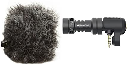 Rode WS9 Deluxe Wind Shield for VideoMicro and VideoMic Me and Rode VideoMic Me Directional Microphone for Smart Phones Bundle